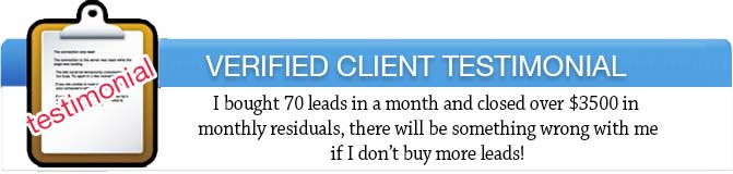 our seo leads testimonials. Did you know the average sale of 20 seo leads, the sales consultant can close 1-3 leads!